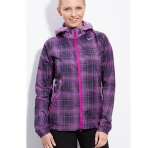 Nike Phenom Vapor Purple Plaid Running Jacket